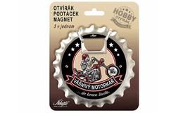 Nekupto Dárkový podtácek / otvírák HOBBY -  Vášnivý motorkář