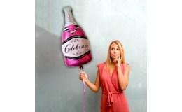 GFT Fóliový balónik - ružové šampanské