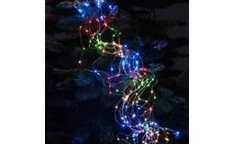 ISO 11348 Vianočné osvetlenie vlasy anjela 200 LED, 9W multicolor 1.95 m