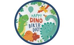 Javoli Papierové taniere Happy Dino 23 cm - 8 ks