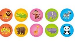 GFT Detské pečiatky zvieratká - 10 ks