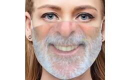 Ali 02G Zábavná maska na tvár 3D potlač - fúzy