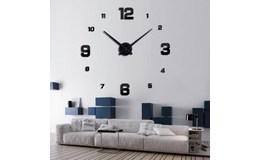KIK Designové 3D nalepovací hodiny 130cm II