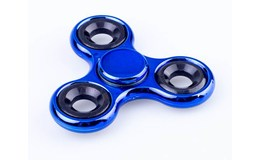 Antistresový Fidget Spinner kov 7cm - modrý
