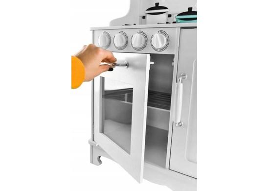 Malatec XL Detská drevená kuchynka KD4581 biela